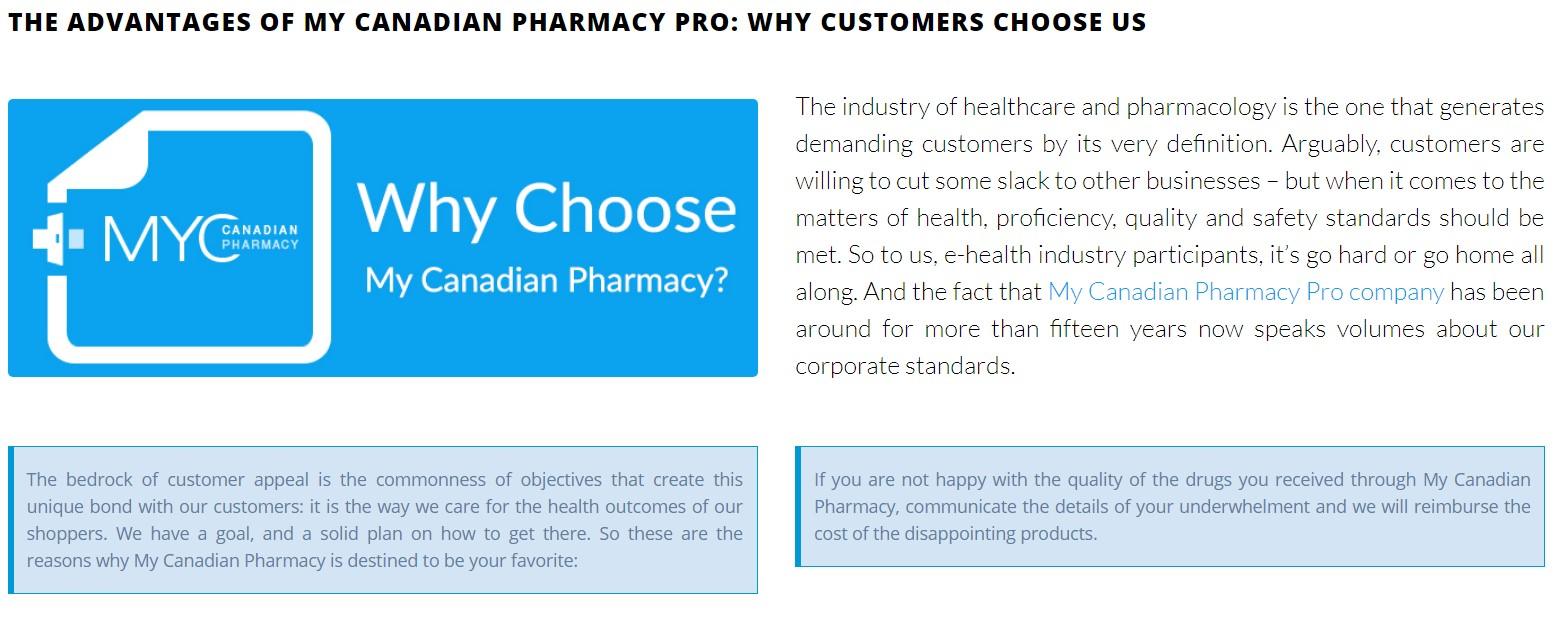 my canadian pharmacy advantages